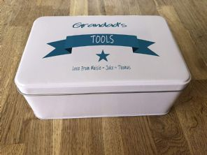 PERSONALISED GRANDAD'S Tools Tin Gardening Present ANY NAME Grandpa Bampy Pops